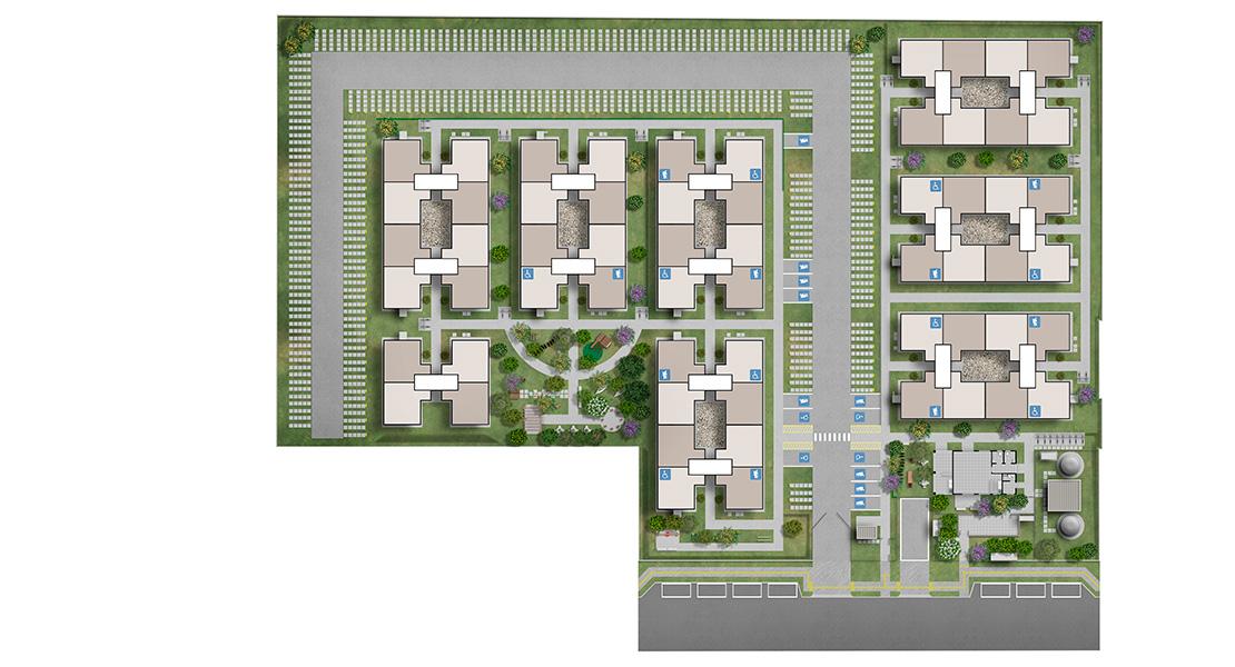 Planta de apartamento em Felicidade | Canoas | RS | planta 1 | tenda.com