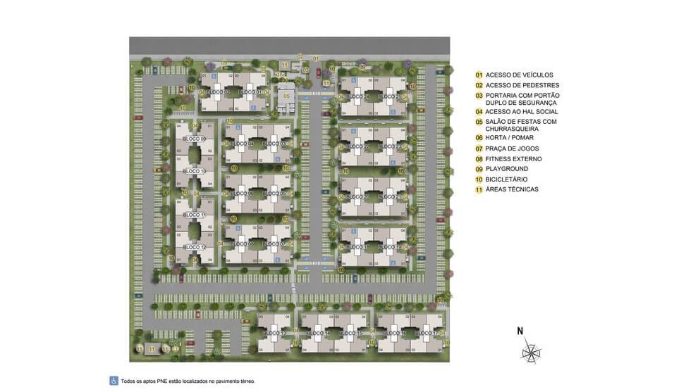Planta de apartamento em Parque Lusitânia - Condomínio I   PAULISTA   PE   planta 1   tenda.com