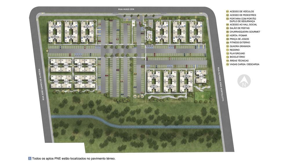 Planta de apartamento em Reserva dos Pinhais | São José dos Pinhais | PR | planta 1 | tenda.com