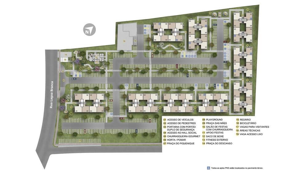 Planta baixa do Residencial Privilege Premium Apartamento Minha Casa Minha Vida | Tenda.com