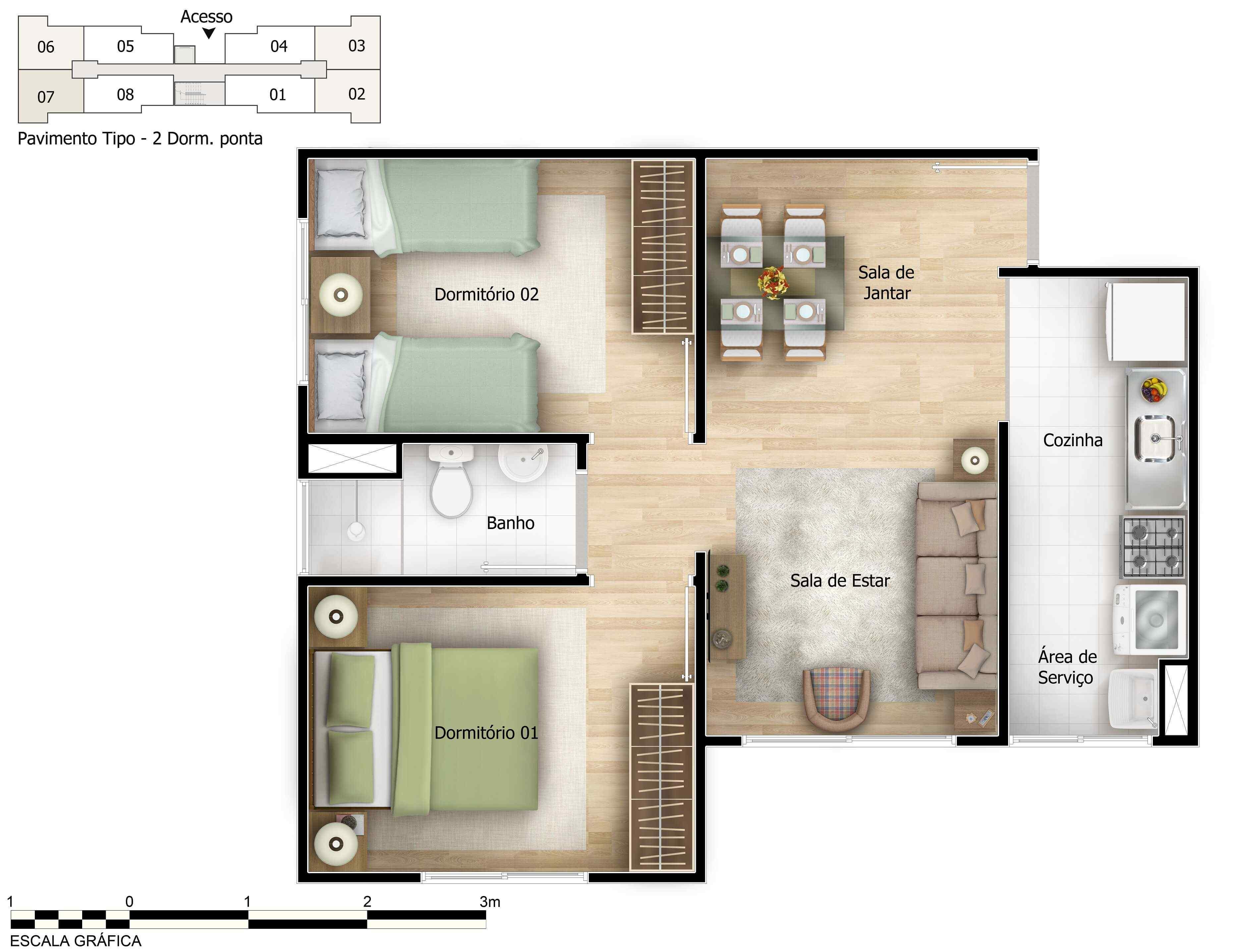 Planta baixa do Porto Trindade Apartamento Minha Casa Minha Vida | Tenda.com