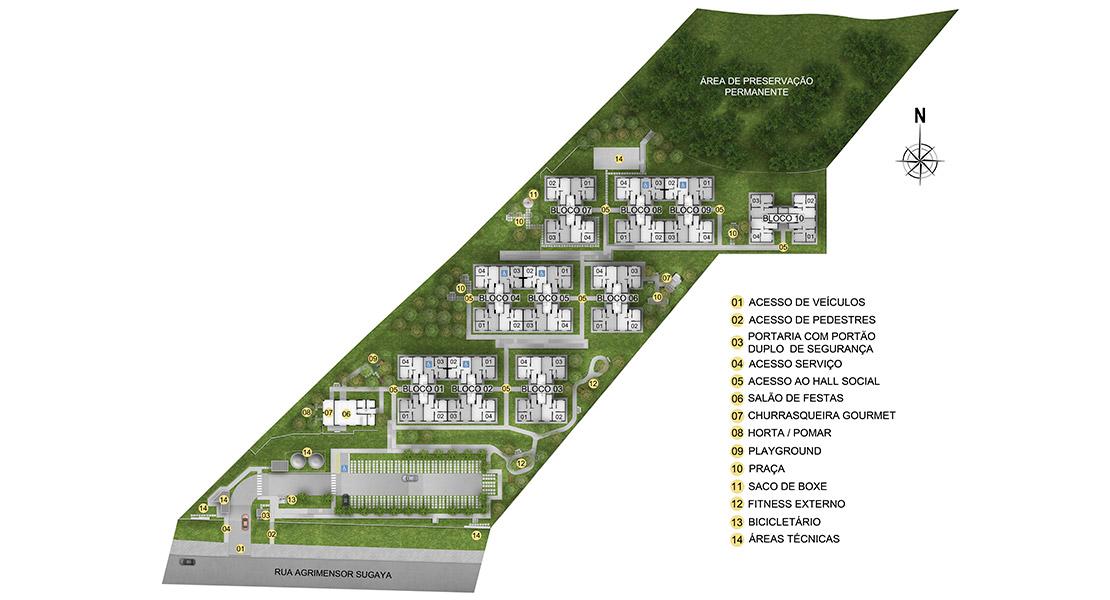 Planta de apartamento em Residencial Jardins Itaquera | São Paulo | SP | planta 1 | tenda.com