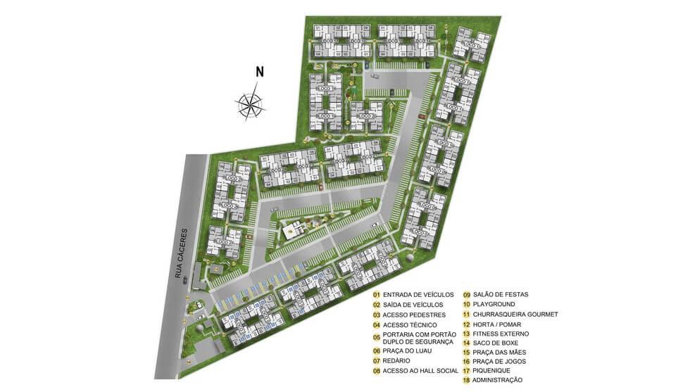 Planta baixa do Residencial Piedade Life Apartamento Minha Casa Minha Vida | Tenda.com
