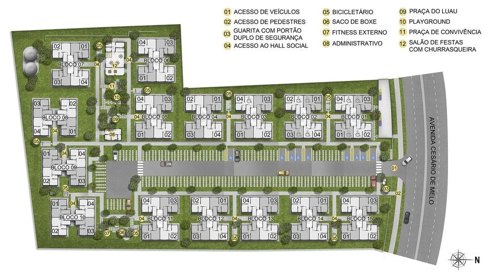 Planta de apartamento em Viva Mais Campo Grande | Rio de Janeiro | RJ | planta 1 | tenda.com