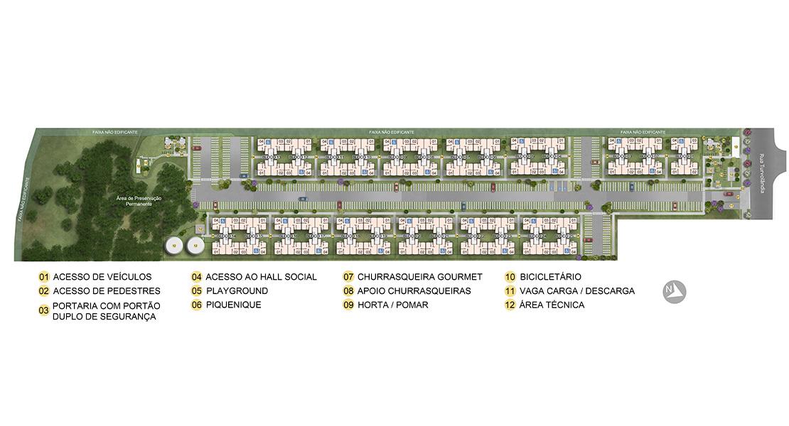 Planta de apartamento em Estância das Flores II | Guarulhos | SP | planta 1 | tenda.com