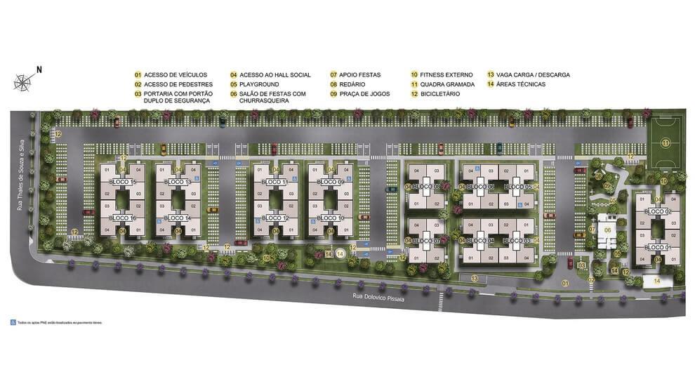 Planta de apartamento em Villagio Di Parma | São José dos Pinhais | PR | planta 1 | tenda.com
