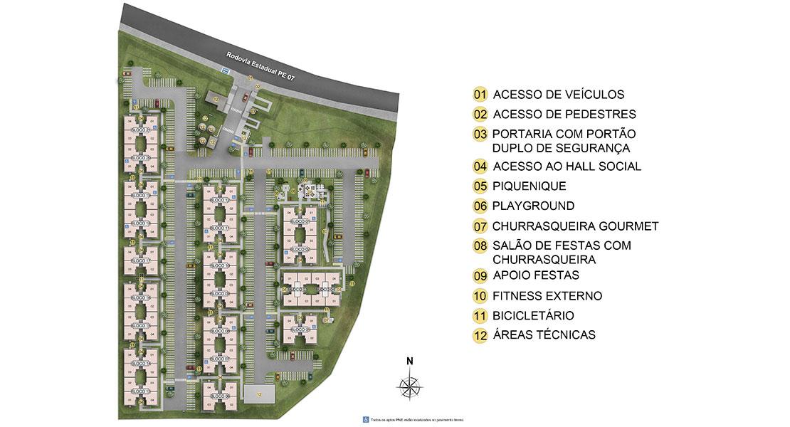 Planta de apartamento em Mauricio de Nassau | Jaboatão dos Guararapes | PE | planta 1 | tenda.com