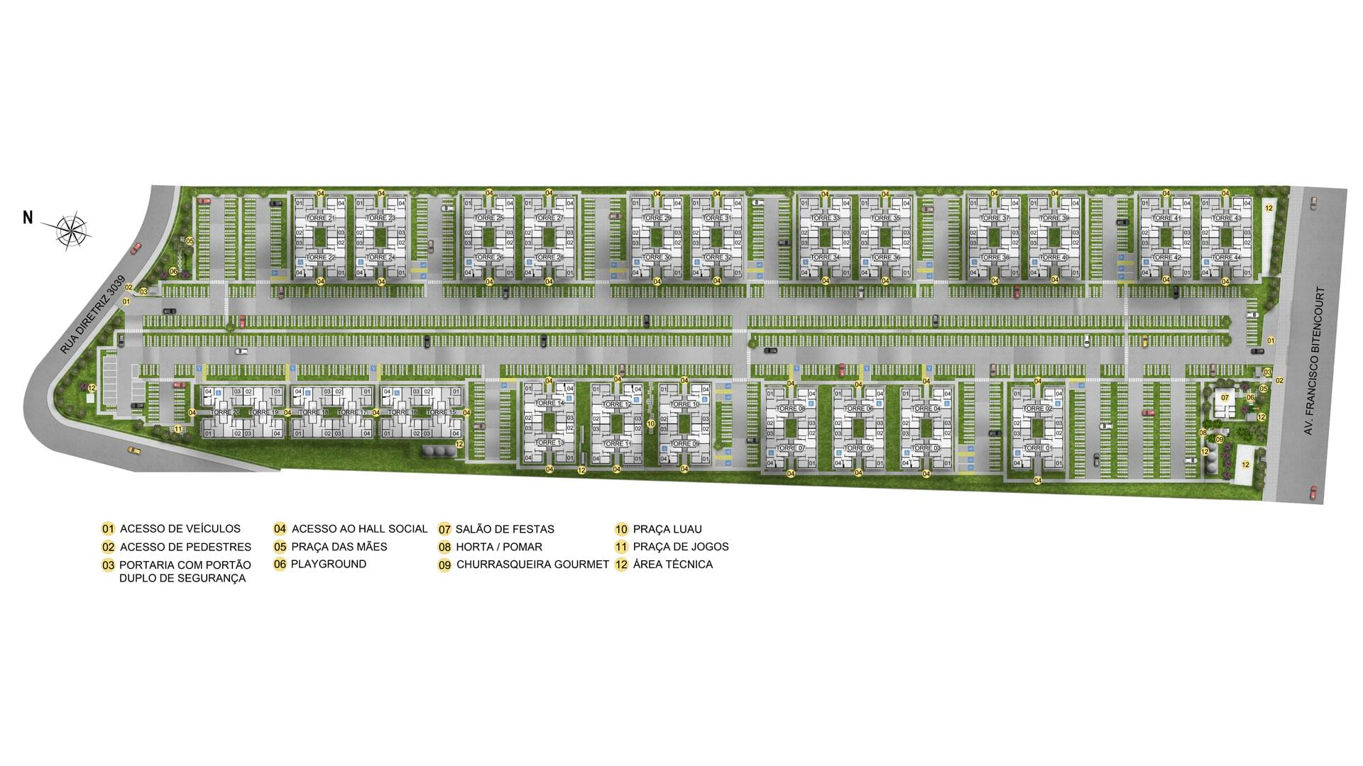 Planta de apartamento em Residencial Vida Alegre Sarandi I | Porto Alegre | RS | planta 1 | tenda.com