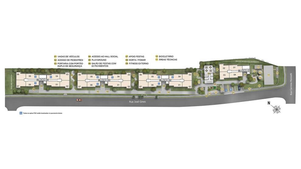 Planta de apartamento em Mistral | São Paulo | SP | planta 1 | tenda.com