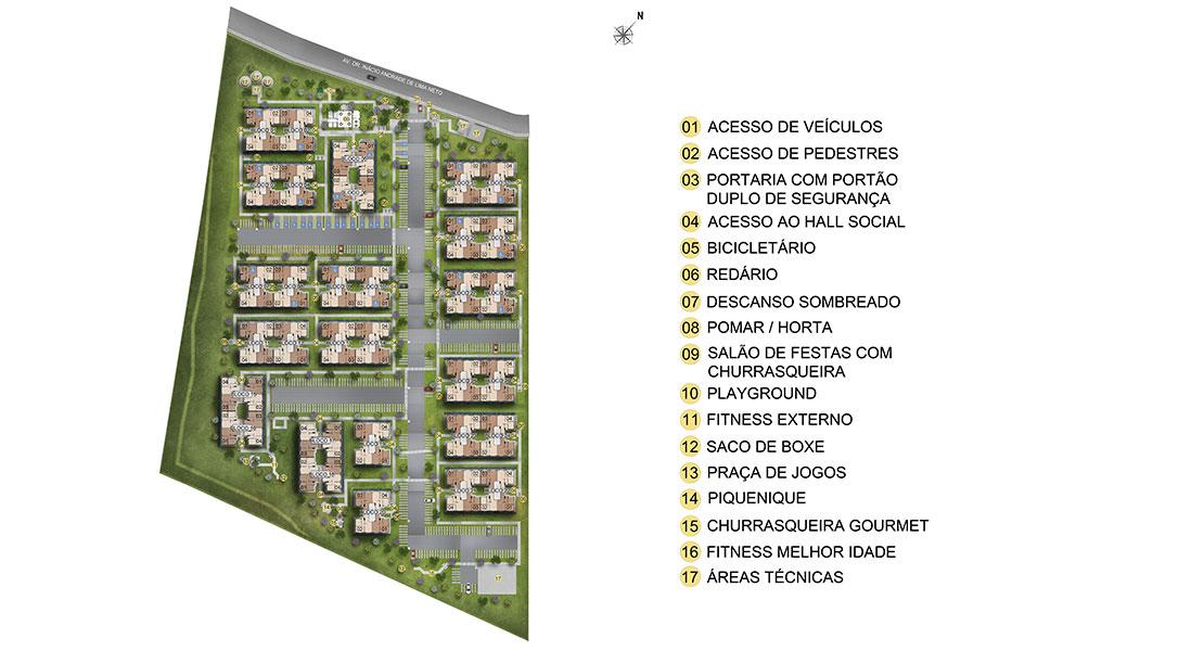Planta baixa do Residencial Engenho Camaras Condominio Preservar Apartamento Minha Casa Minha Vida | Tenda.com