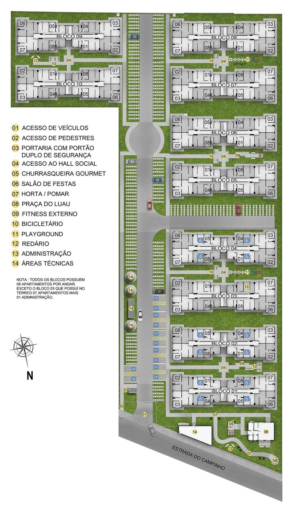 Planta de apartamento em Residencial Bela Vida | Rio de Janeiro | RJ | planta 1 | tenda.com