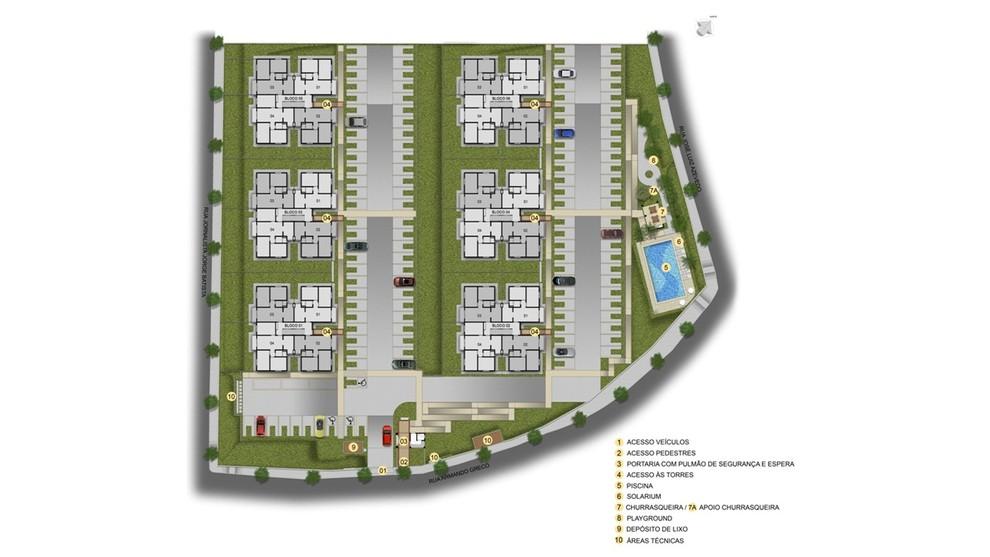 Planta de apartamento em Bosque dos Pinheiros | Belo Horizonte | MG | planta 1 | tenda.com