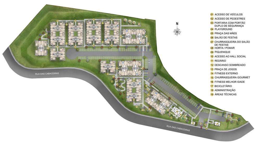 Planta de apartamento em Residencial Bellas Aguas | Salvador | BA | planta 1 | tenda.com