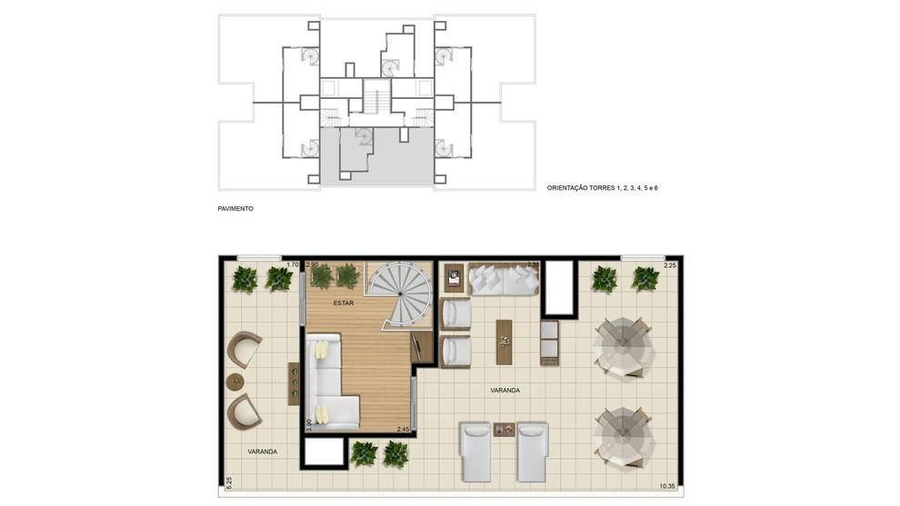 Planta baixa do Fit Marumbi Apartamento Minha Casa Minha Vida   Tenda.com