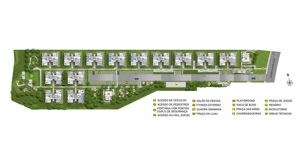 Planta baixa do Residencial das Palmeiras Apartamento Minha Casa Minha Vida | Tenda.com