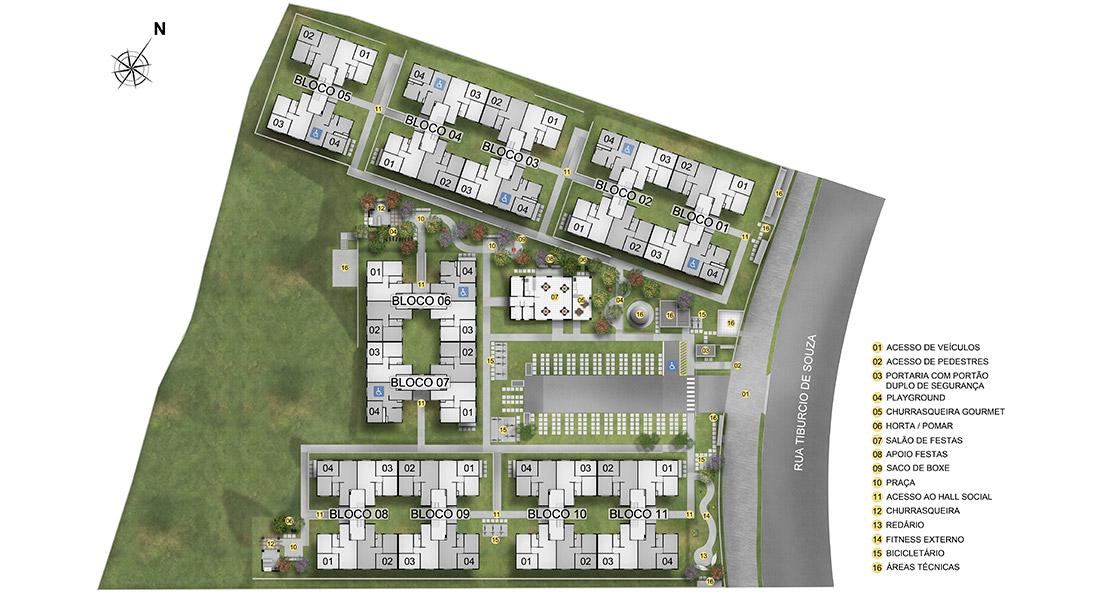 Planta de apartamento em Residencial Morada das Gaivotas | São Paulo | SP | planta 1 | tenda.com