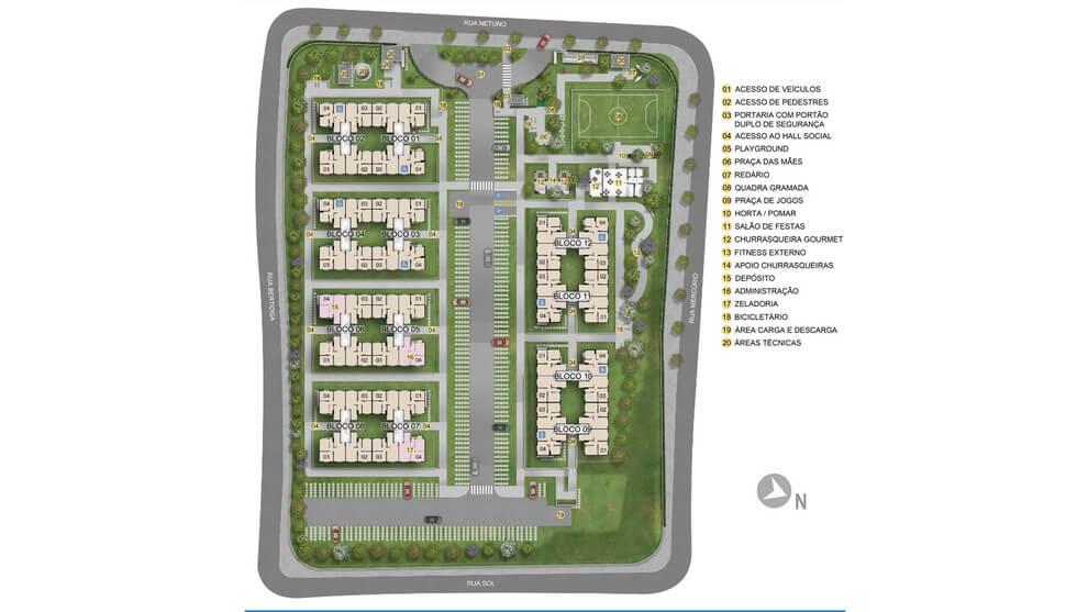 Planta baixa do Residencial Veredas de Itaquá Apartamento Minha Casa Minha Vida | Tenda.com