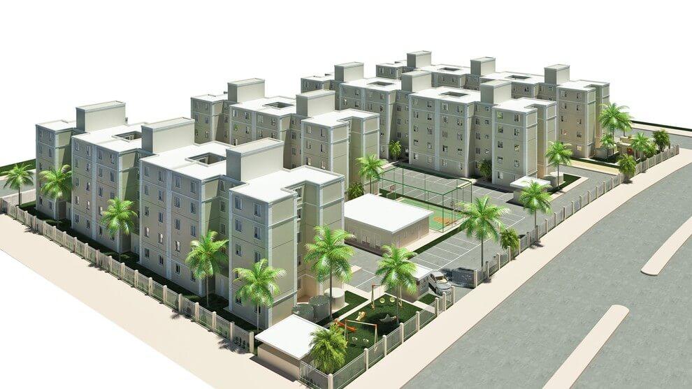 Planta de apartamento em Residencial Figueiredo I | Porto Alegre | RS | planta 1 | tenda.com