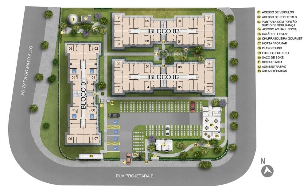 Planta de apartamento em Residencial Reserva das Árvores III   Rio de Janeiro   RJ   planta 1   tenda.com