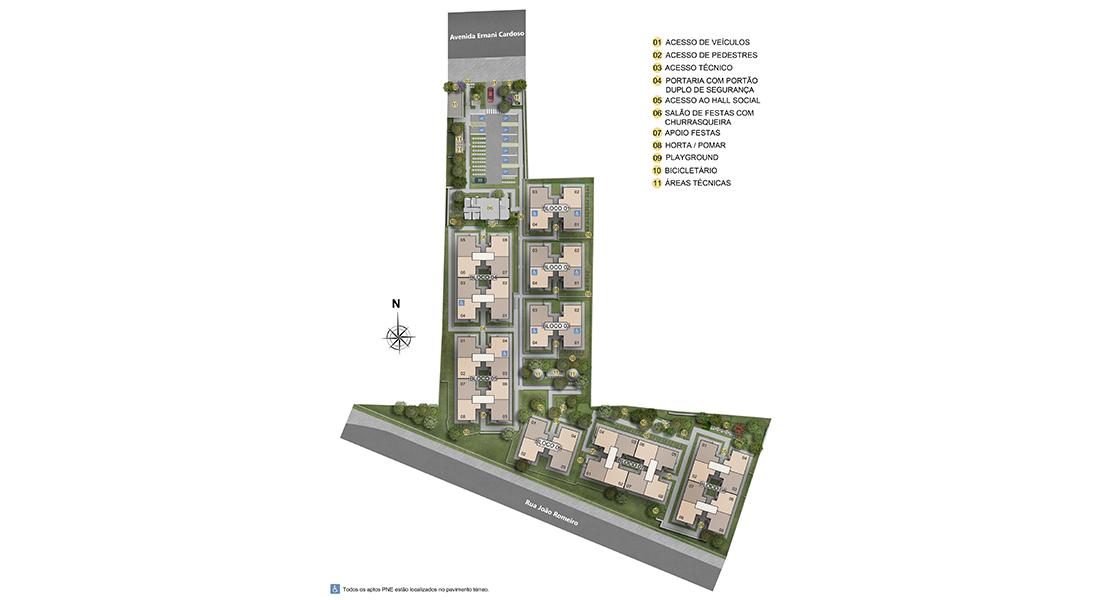 Planta de apartamento em Arte Ville | Rio de Janeiro | RJ | planta 1 | tenda.com