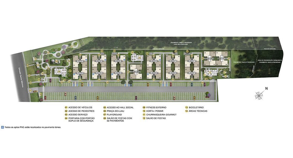 Planta de apartamento em Pitangueiras | Suzano | SP | planta 1 | tenda.com