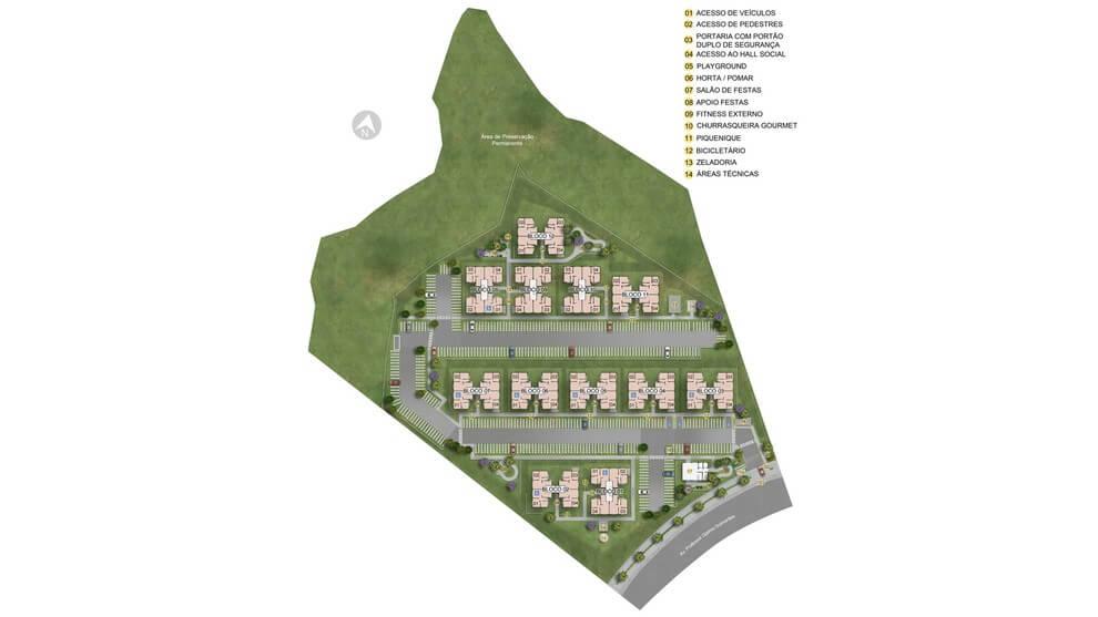 Planta de apartamento em Residencial Cidade Imperial | Santa Luzia | MG | planta 1 | tenda.com
