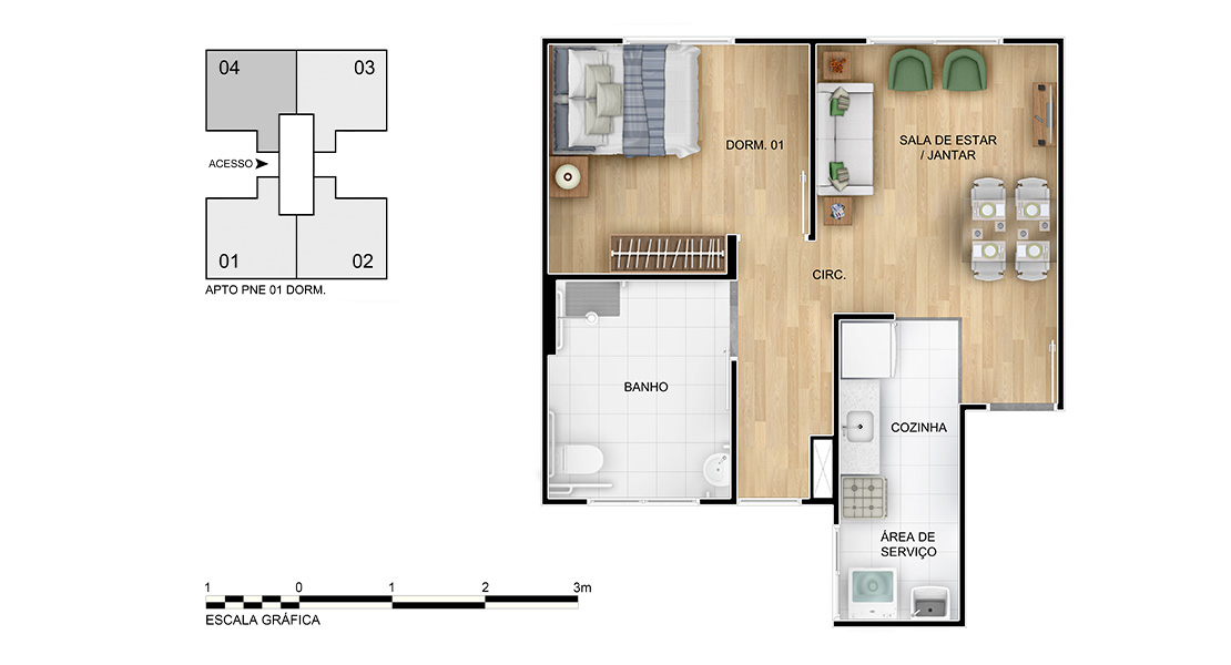 Planta baixa do Felicidade Apartamento Minha Casa Minha Vida | Tenda.com