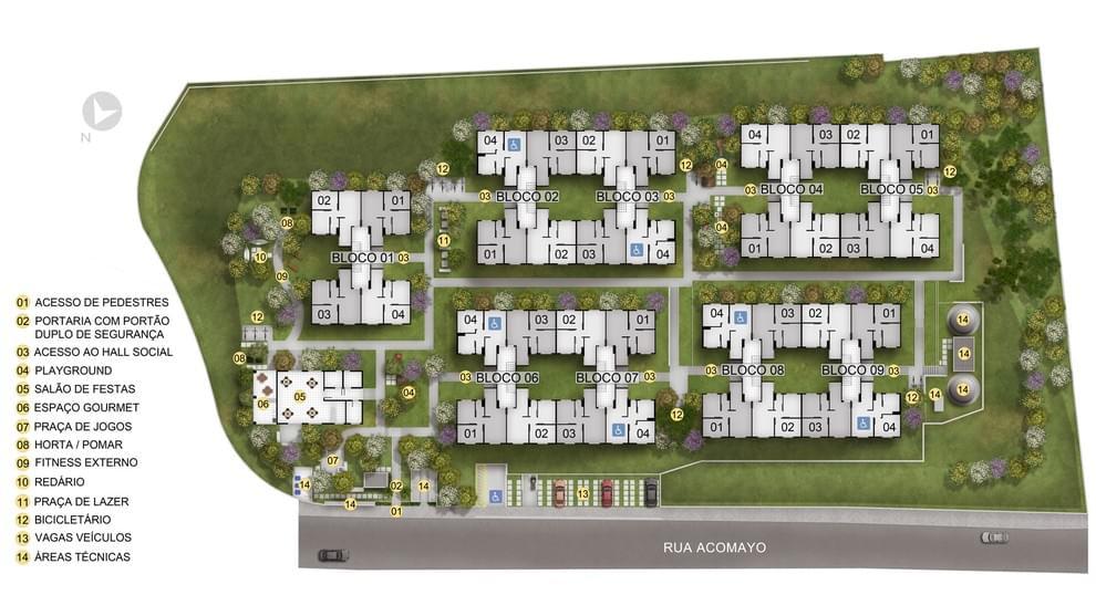 Planta de apartamento em Residencial Monte Azul | São Paulo | SP | planta 1 | tenda.com
