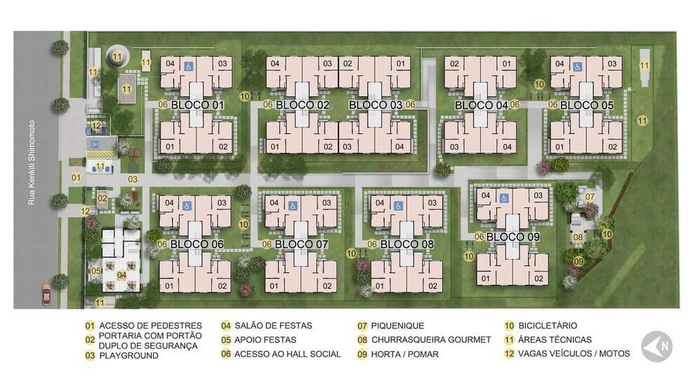 Planta baixa do Residencial Turmalina Apartamento Minha Casa Minha Vida | Tenda.com