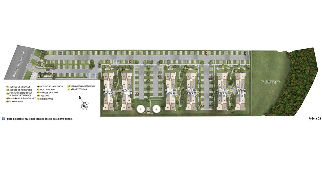 Planta de apartamento em Jardins de Guarulhos | Guarulhos | SP | planta 1 | tenda.com