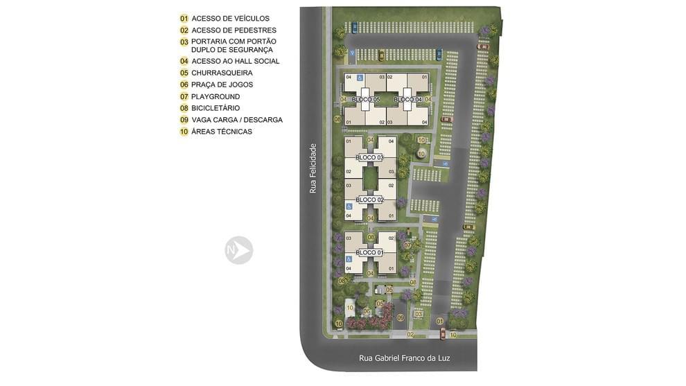 Planta de apartamento em Jardim dos Pampas II | Porto Alegre | RS | planta 1 | tenda.com