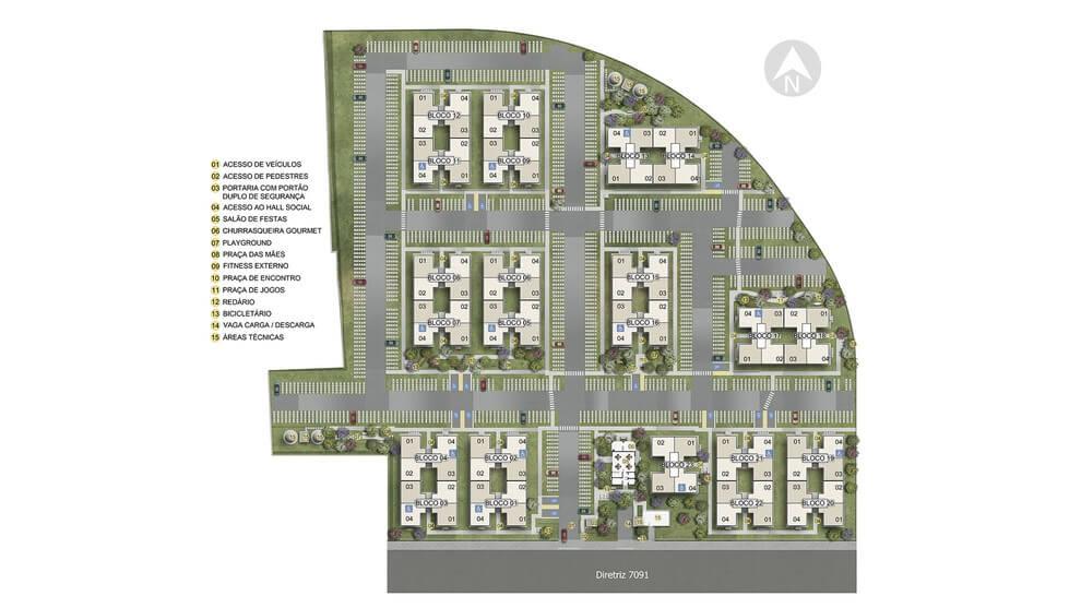 Planta baixa do Campo Belo Apartamento Minha Casa Minha Vida | Tenda.com