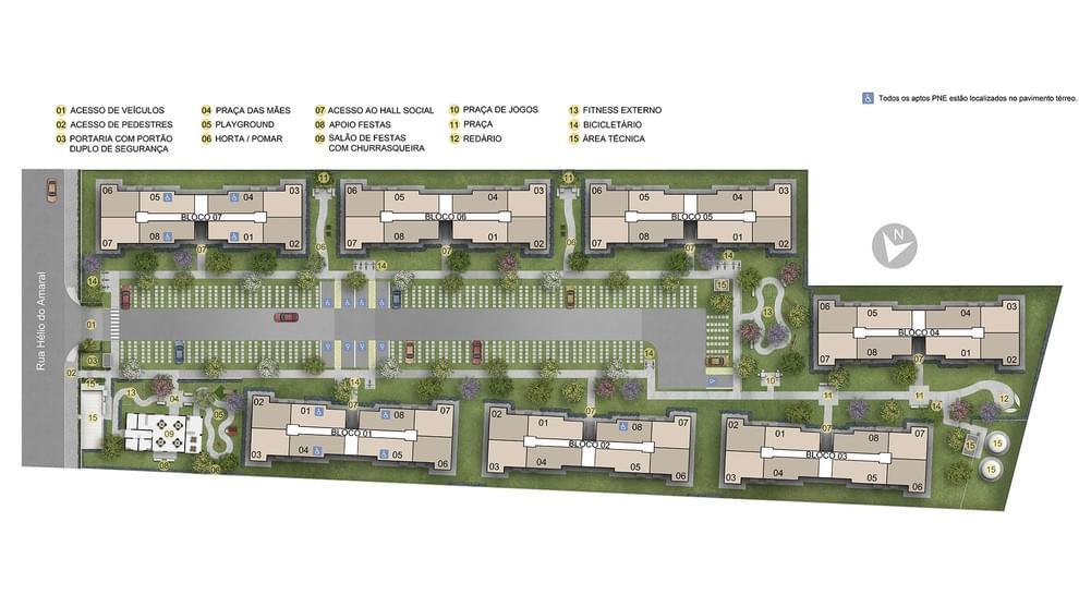 Planta baixa do Residencial Parque Rio Maravilha IV Apartamento Minha Casa Minha Vida | Tenda.com