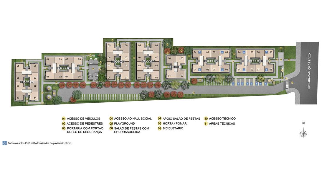 Planta de apartamento em Reserva do Parque II | Rio de Janeiro | RJ | planta 1 | tenda.com