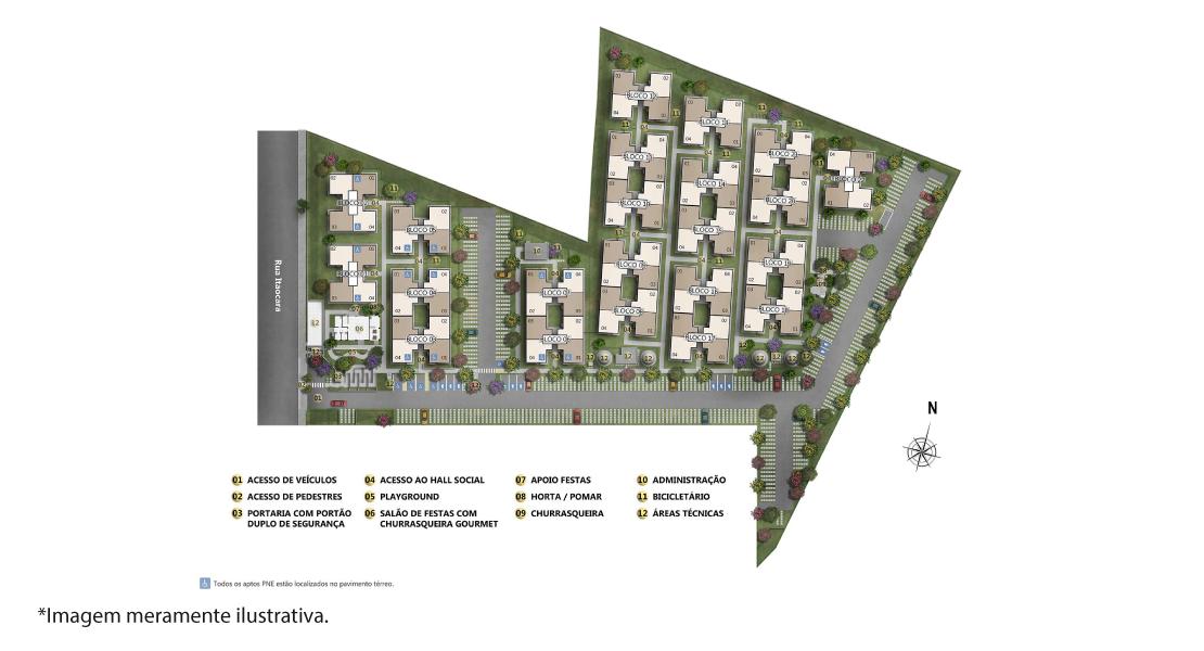 Planta de apartamento em Solar dos Oitis I | São Gonçalo | RJ | planta 1 | tenda.com