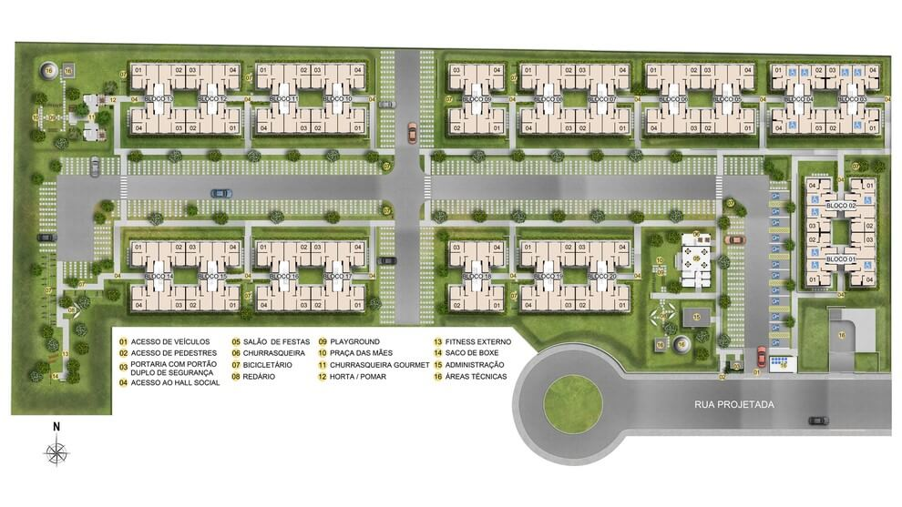 Planta de apartamento em Residencial Terra Brasilis - Praia de Arembepe | Camaçari | BA | planta 1 | tenda.com