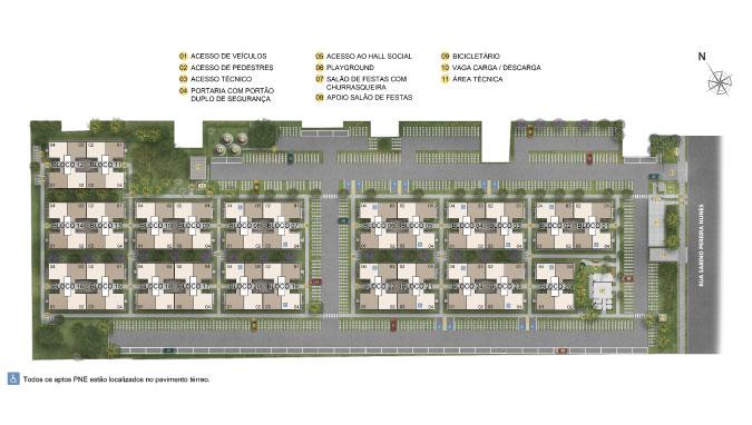 Planta de apartamento em Reserva do Sul II | Porto Alegre | RS | planta 1 | tenda.com