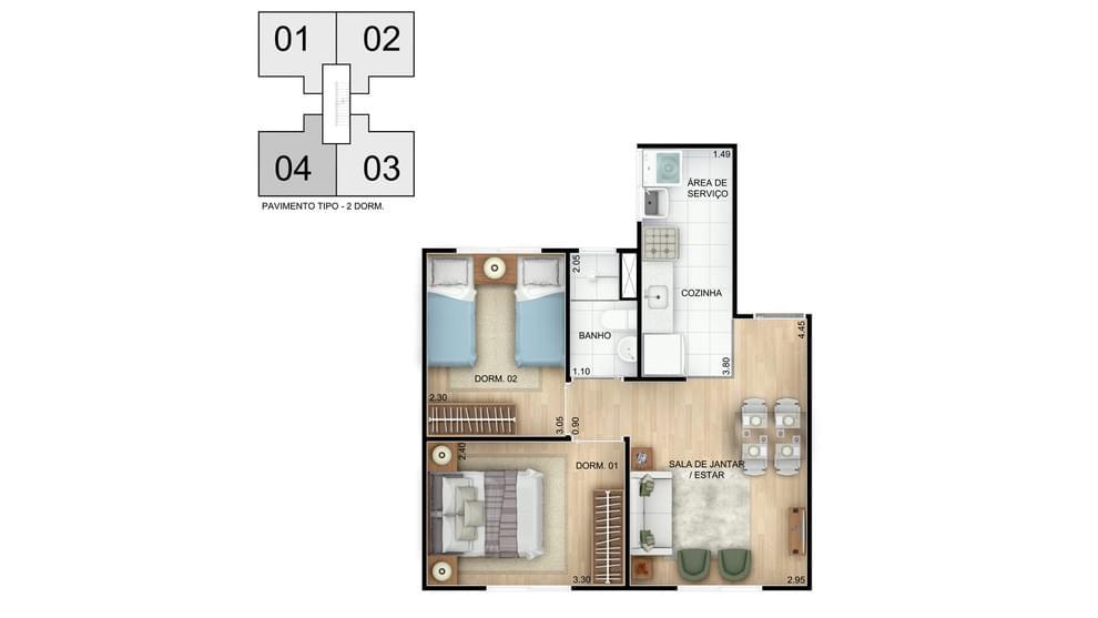 Planta baixa do Residencial Mar de Abrantes Apartamento Minha Casa Minha Vida   Tenda.com