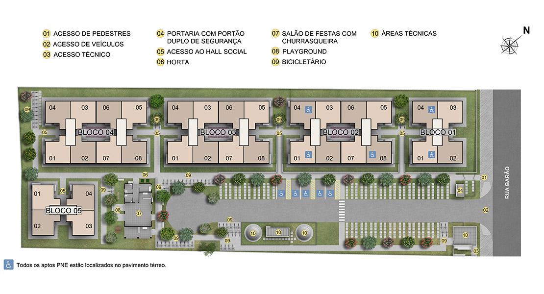 Planta baixa do Bela Morada Apartamento Minha Casa Minha Vida | Tenda.com