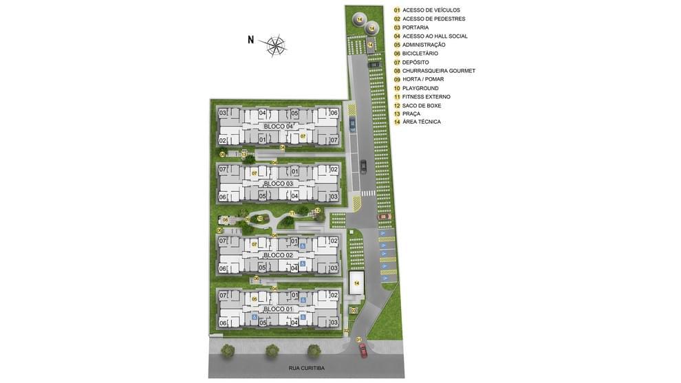 Planta de apartamento em Residencial Parque Real Garden | Rio de Janeiro | RJ | planta 1 | tenda.com