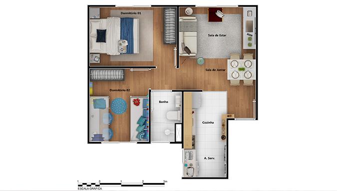 Planta baixa do Maraponga Ville Apartamento Minha Casa Minha Vida   Tenda.com