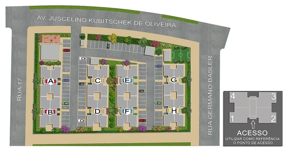 Planta baixa do Residencial Juscelino Kubitschek I Apartamento Minha Casa Minha Vida | Tenda.com