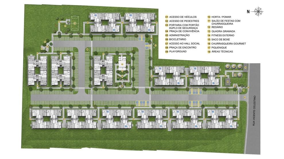 Planta de apartamento em Residencial Vila Imperial | SALVADOR | BA | planta 1 | tenda.com