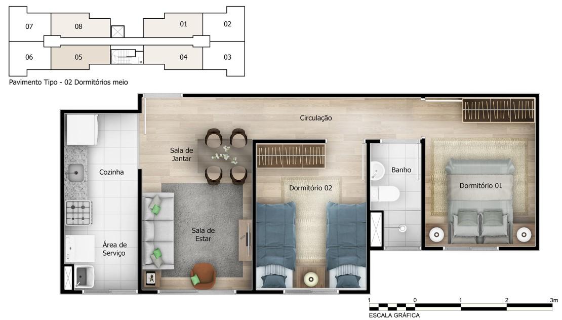 Planta baixa do Brisas Salvador Norte Apartamento Minha Casa Minha Vida | Tenda.com