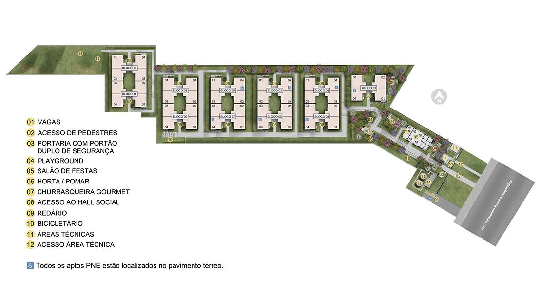 Planta baixa do Vila Áustria Apartamento Minha Casa Minha Vida | Tenda.com