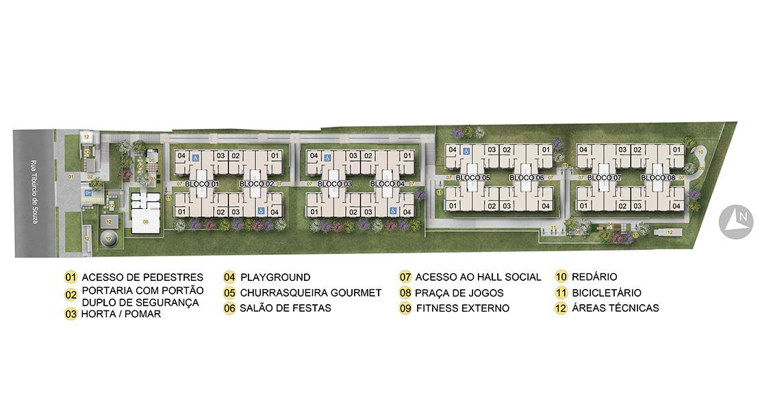 Planta de apartamento em Ilha dos Flamingos | São Paulo | SP | planta 1 | tenda.com