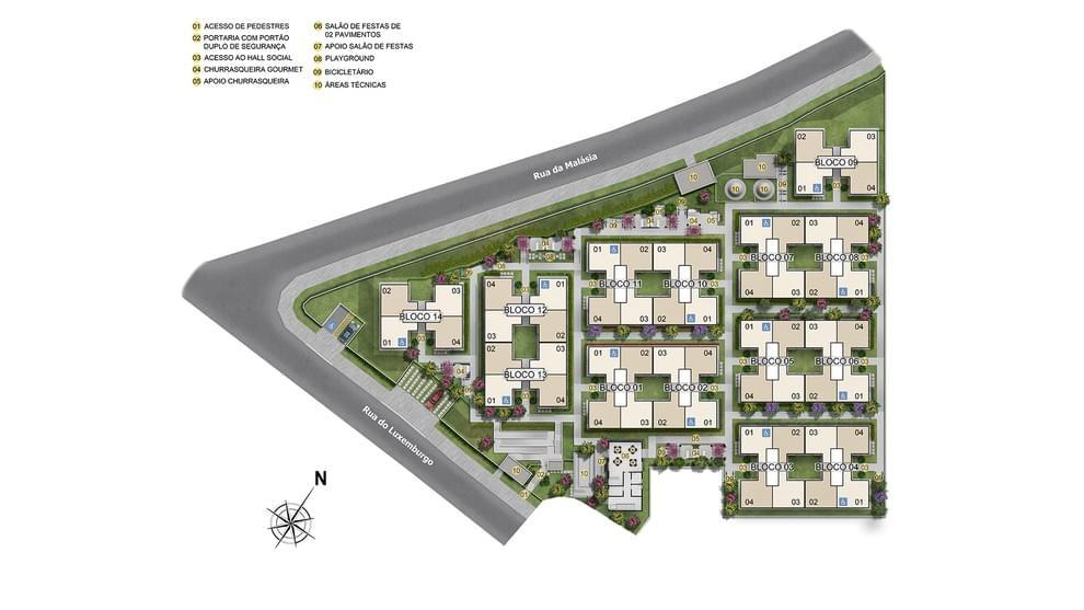 Planta de apartamento em Casa Branca I | Salvador | BA | planta 1 | tenda.com