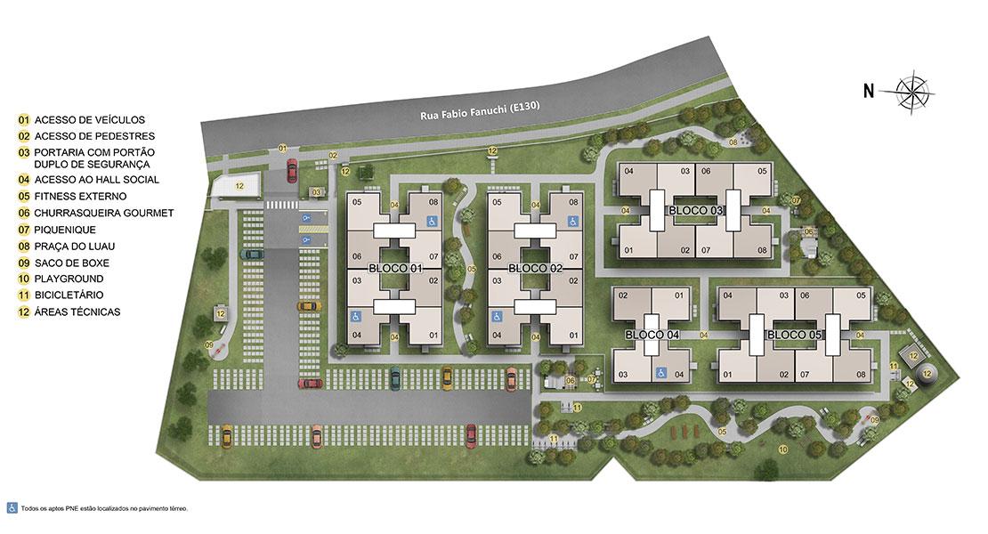 Planta baixa do Ville Provence Apartamento Minha Casa Minha Vida | Tenda.com