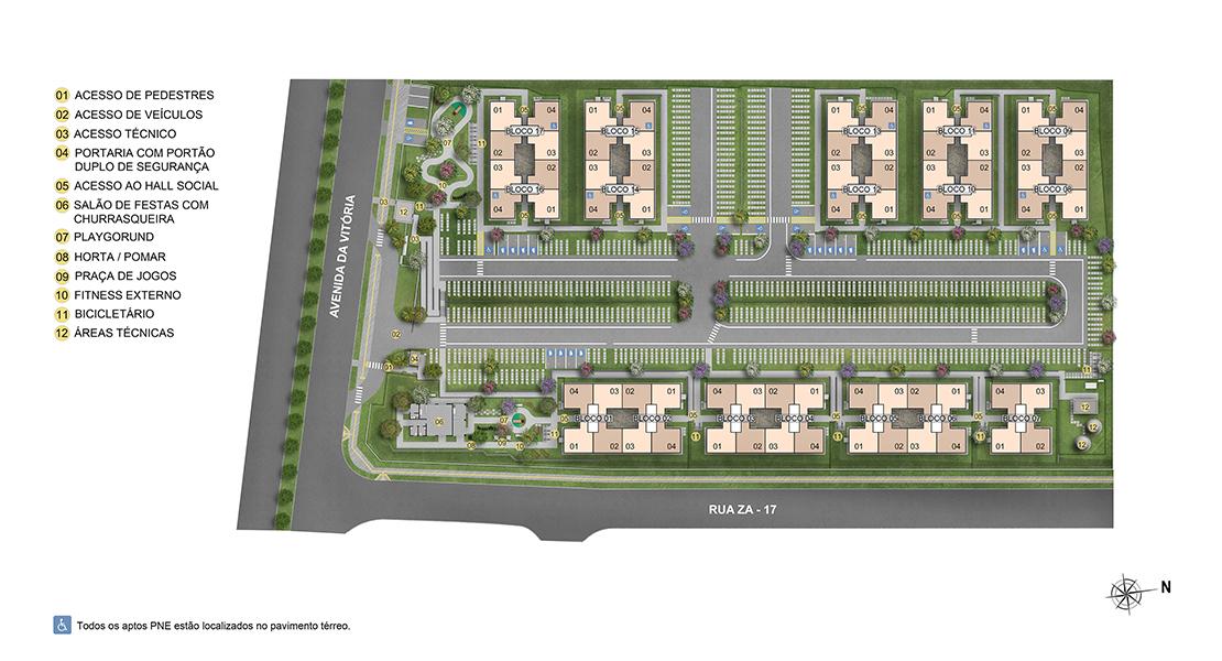Planta de apartamento em Vila Cerrado II | Goiânia | GO | planta 1 | tenda.com