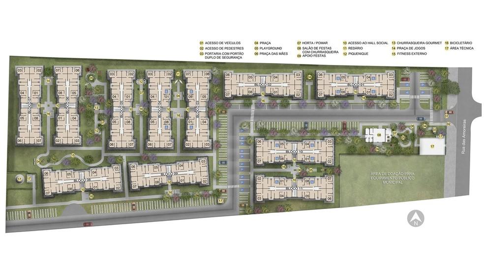 Planta de apartamento em Residencial Encanto | Rio de Janeiro | RJ | planta 1 | tenda.com